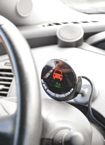 Foto dashboard van 'slimme auto'